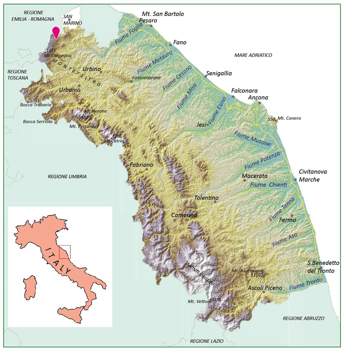 Cartina Fiumi Liguria