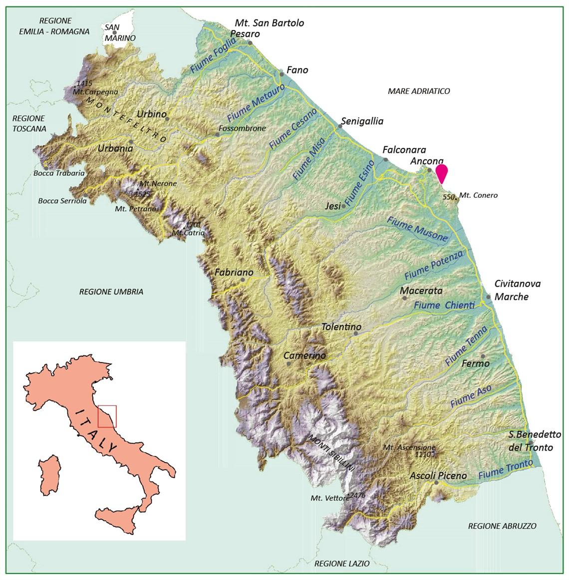 Marche Cartina Italia.L Orizzonte Del Trave Le Marche Scienza Poesia E Musica